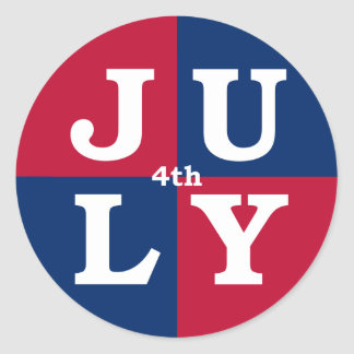 4th of July Classic Round Sticker