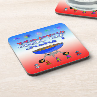 4th of July Cookout Drink Coaster Set (6)