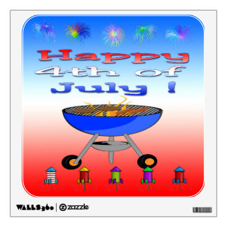 4th of July Cookout Wall Decal