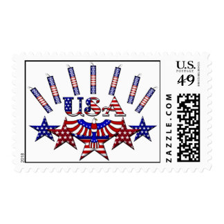 4th of July Crackers Postage