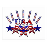 4th of July Crackers Postcard