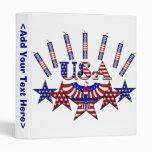 4th of July Crackers Vinyl Binder