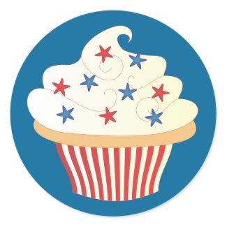4th of July Cupcake sticker