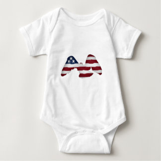 4th of july cupcakes baby bodysuit