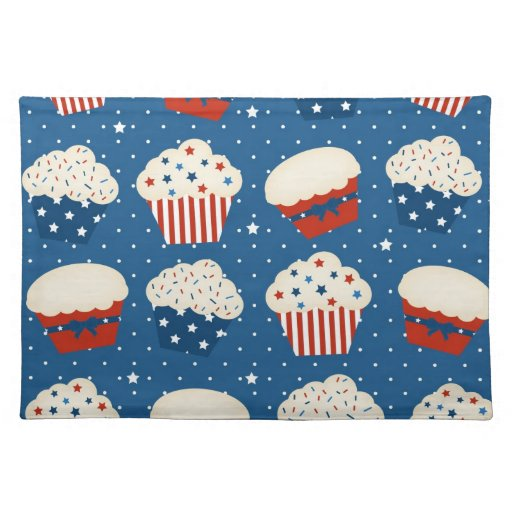 4th of July Cupcakes Cloth Place Mat