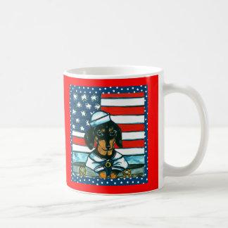 4th of July Dachshund Coffee Mugs