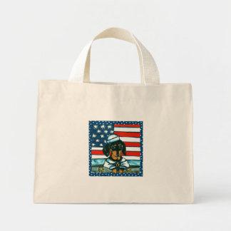 4th of July Dachshund Mini Tote Bag