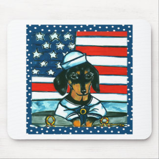 4th of July Dachshund Mouse Pad
