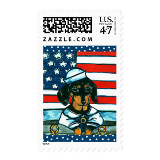 4th of July Dachshund Postage