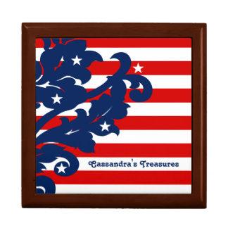 4th of July damask Gift Box