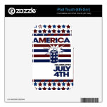 4th of July Decal For iPod Touch 4G