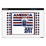"""4th of July Decals For 15"""" Laptops"""