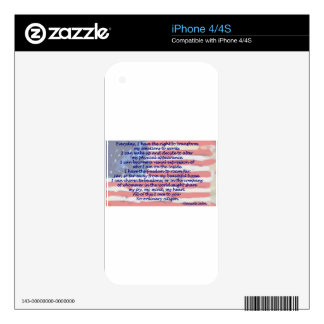 4th of July Decals For iPhone 4