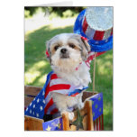 4th of July Dog Card