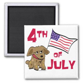 4th of July Dog Design Fridge Magnet