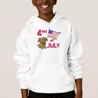 4th of July Dog Design T-Shirt