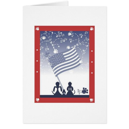 4th of July dogs Card