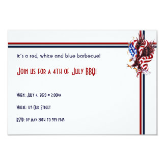 4th of July Eagle and American Flag Illustration Card