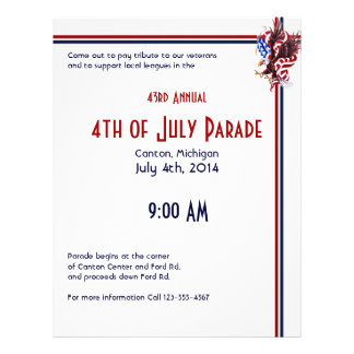 4th of July Eagle and American Flag Illustration Flyer