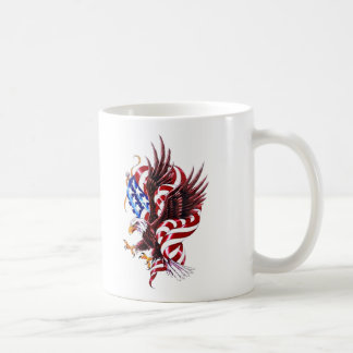 4th of July Eagle and American Flag Illustration Coffee Mugs