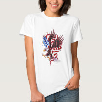 4th of July Eagle and American Flag Illustration