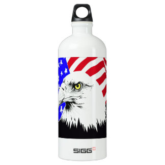 4th of July Eagle Water Bottle