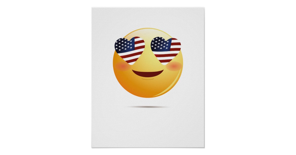 4th Of July Emoji National Independence Funny Gift Poster ...