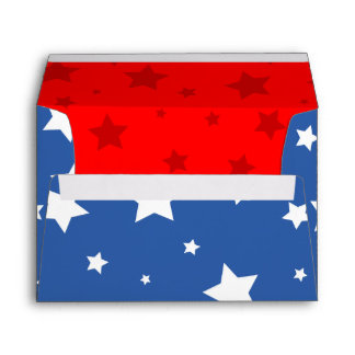 4th of July Envelope A7 American Stars