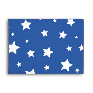 4th of July Envelope A7 White Stars Red Stars