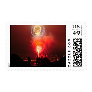 4th of July Evening Fireworks Postage
