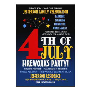 4th of July Family Celebration Invitation