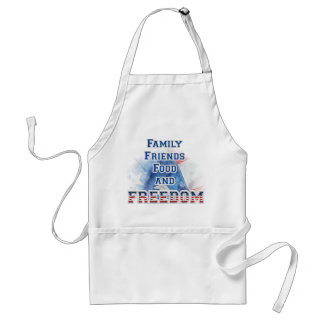 4th of July - Family, Friends, Food, & Freedom Adult Apron