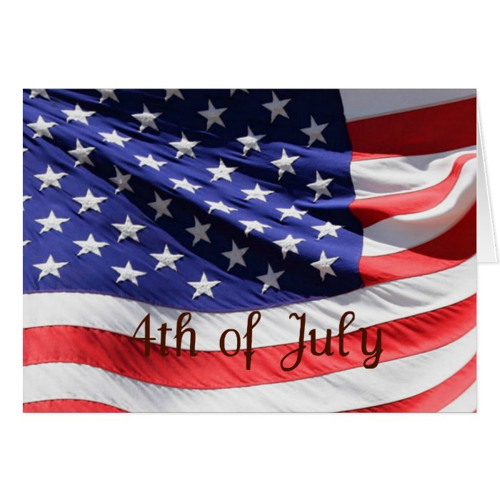 4th of July Festive Day Greeting Card