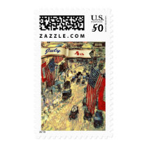 4th of July Fine Art Postage Stamps