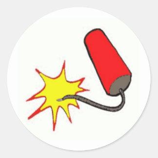 4th of July Firecracker Classic Round Sticker