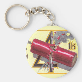 4th of July Firecracker Explodes Keychain