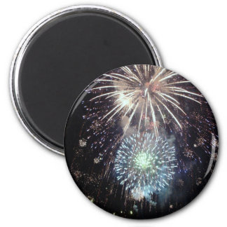 4th of July Fireworks 2 Inch Round Magnet