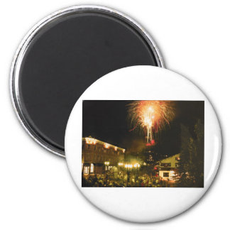 4th of July Fireworks Aspen CO 2 Inch Round Magnet