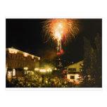 4th of July Fireworks Aspen CO Postcard
