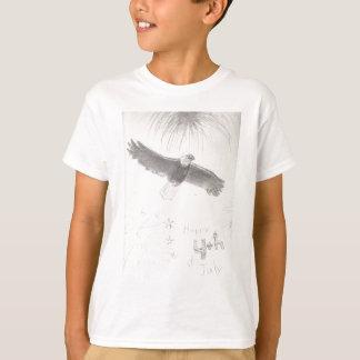 4'th of july fireworks bald eagle drawing eliana.j T-Shirt
