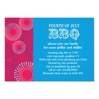 4th of July Fireworks BBQ Invitation