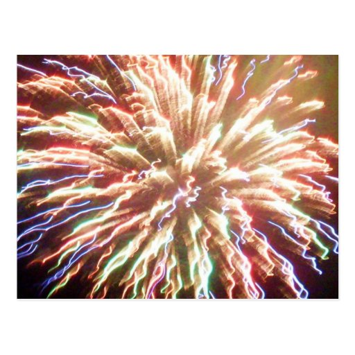 4TH OF JULY FIREWORKS BEAUTY postcard