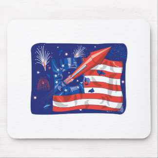 4th of July Fireworks Design Mouse Pad