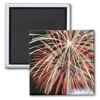 4th of July Fireworks display 2 Inch Square Magnet