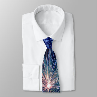4th of July Fireworks in Blue Independence Day Tie