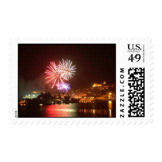 4th of July Fireworks in The Harbor Postage