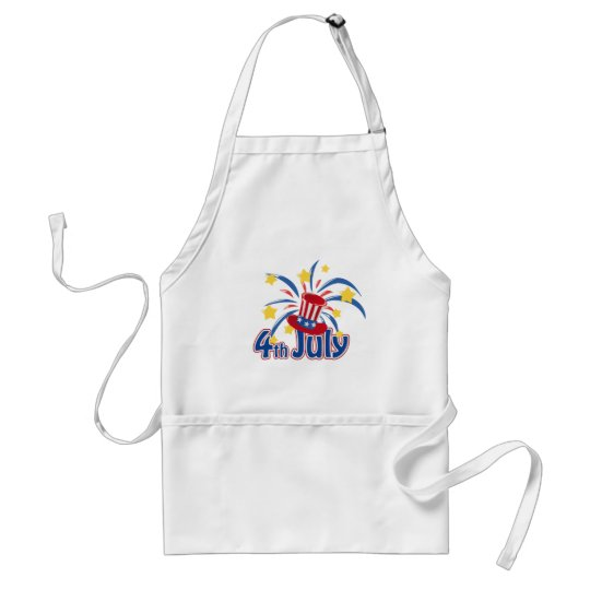 4th of July Fireworks Independence Day Adult Apron