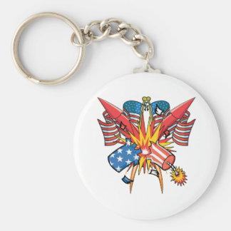 4th of July Fireworks Keychain
