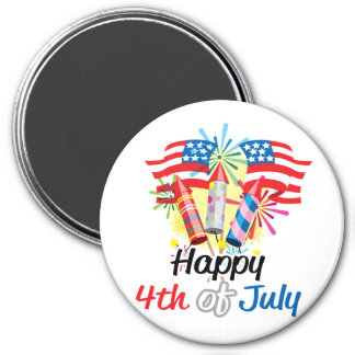 4th of July Fireworks Magnets