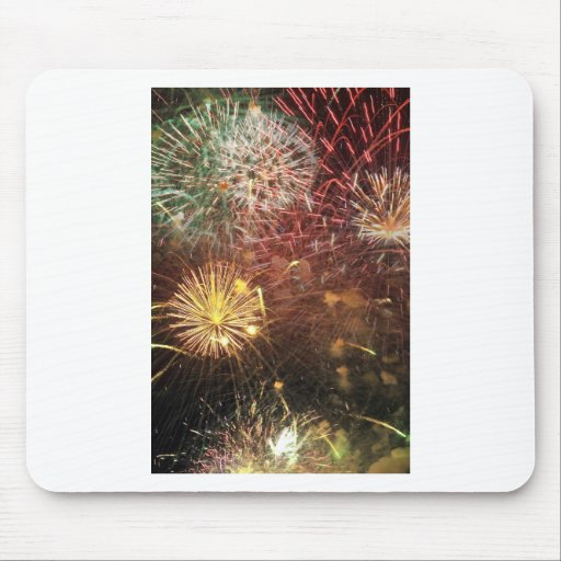 4th of July Fireworks Mouse Pad